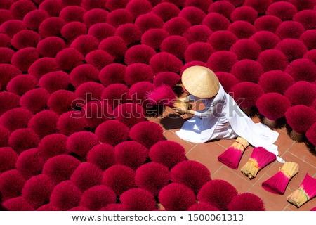 Kadzidło świątyni Wietnam palenie kultu modlitwy Zdjęcia stock © jeayesy