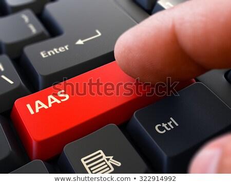 írott piros billentyűzet kulcs infrastruktúra szolgáltatás Stock fotó © tashatuvango