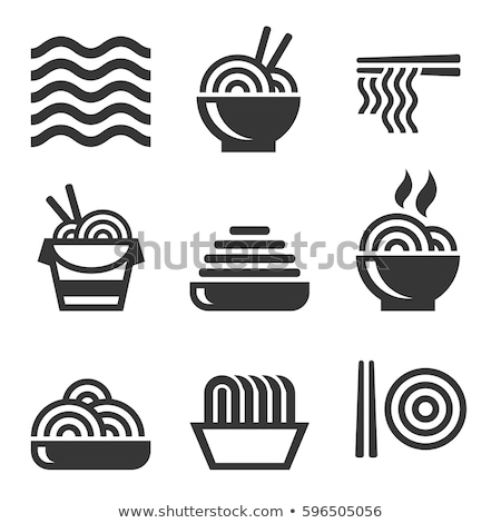 noodles icon Stock photo © kiddaikiddee