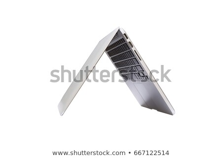 laptop half closed stock photo © ozaiachin