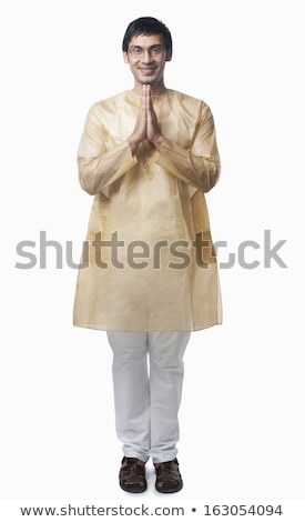 Bengali man standing in a prayer position Stock photo © imagedb