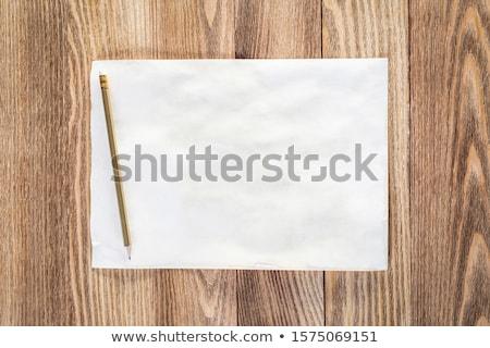 vel · papier · houten · tafel · pen · christmas - stockfoto © master1305