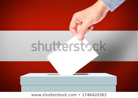 hombre · votación · votación · cuadro · elecciones - foto stock © zerbor
