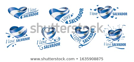 флаг · Сальвадор · иллюстрация · сложенный · Мир · металл - Сток-фото © mikhailmishchenko