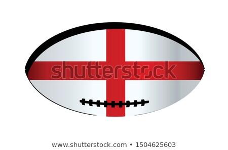 Англии святой овальный кнопки серебро флаг Сток-фото © Bigalbaloo