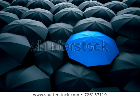 Kék esernyő út ősz erdő fa Stock fotó © Kotenko