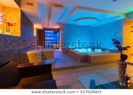 infravermelho · sauna · cabine · lâmpada · banco · barril - foto stock © elnur