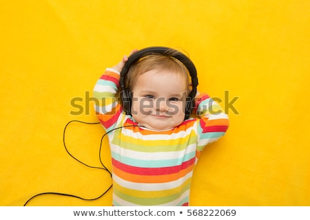 baby with headphones stock photo © Paha_L