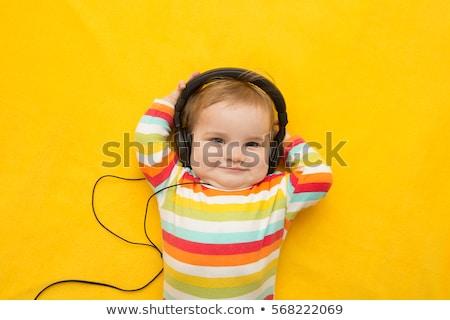 baby with headphones stock photo © Paha_L