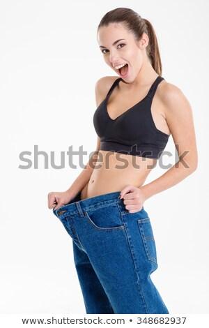счастливым Фитнес-женщины тощий старые Сток-фото © deandrobot
