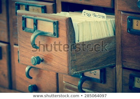 Top geheime mappen catalogus gekleurd document Stockfoto © tashatuvango