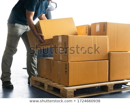 Pallet with boxes Stock photo © elgusser