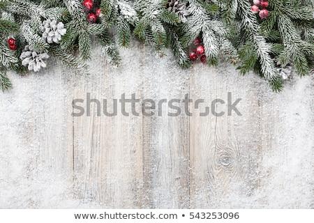 Noel kar taneleri yeşil renkler sanat kâğıt Stok fotoğraf © rommeo79
