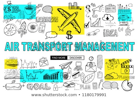 air transport management concept with doodle design style stock photo © davidarts