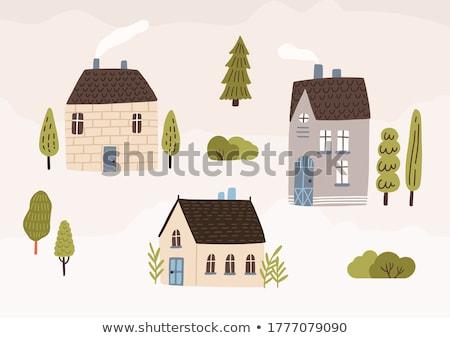 Cute коттедж стране дома домой окна Сток-фото © Winner