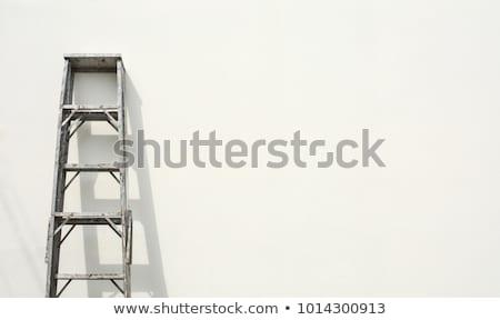 Aluminum step ladder isolated on white background Stock photo © shutswis