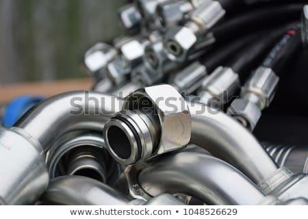 Hidraulikus kotrógép nyomás technológia ipari erő Stock fotó © Suljo