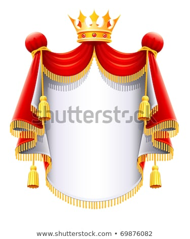 royal majestic mantle with gold crown Stock photo © LoopAll