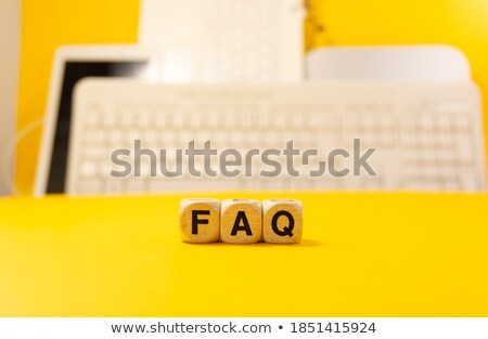 Lettre dés clavier faq affaires bureau Photo stock © Zerbor