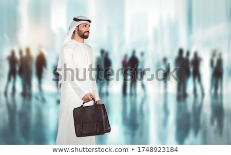 Arabic businessman walking Stock photo © zurijeta