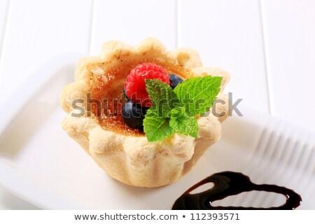 heerlijk · karamel · eenvoudige · dessert · restaurant · donkere - stockfoto © digifoodstock