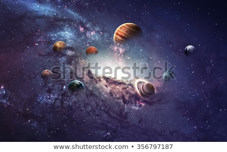 astronaut with planets in space stock photo © bluering
