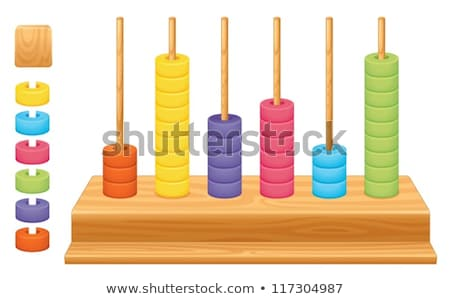 Mathematical place value abacus Stock photo © bluering