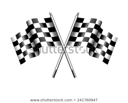 Stock photo: TRACK DAY Checkered, Chequered Flag Motor Racing