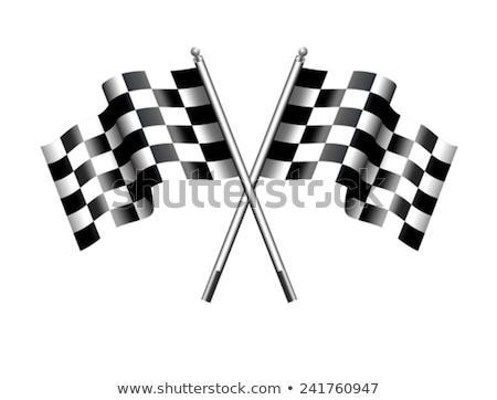 útvonal nap kockás kockás zászló motor Stock fotó © fenton