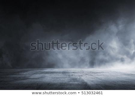 Stock photo: Cracks in concrete flooring