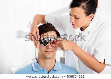 женщины · оптик · улыбаясь · офтальмология · клинике · портрет - Сток-фото © andreypopov
