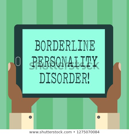 Tablet with the diagnosis Bipolar disorder on the display Stock photo © Zerbor
