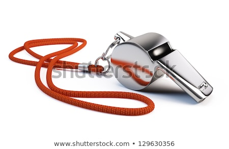 Red whistle on white background Stock photo © bluering
