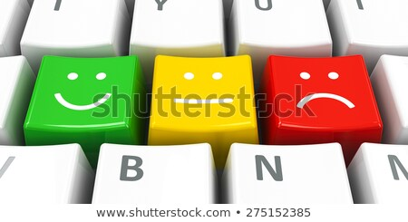 White keyboard positive, neutral and negative Stock photo © Oakozhan