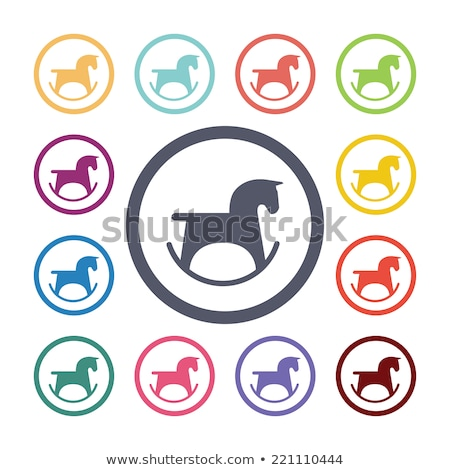 round buttons with horse toys stock photo © bluering