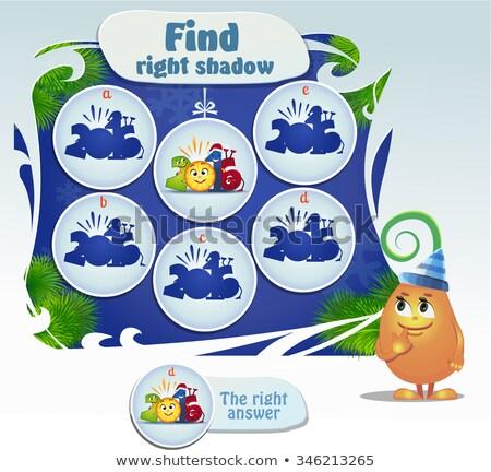 パズル 見つける 右 画像 ゲーム ストックフォト © Natali_Brill