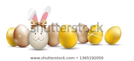Paskalya · tebrik · kartı · şablon · stil · pastel - stok fotoğraf © beholdereye