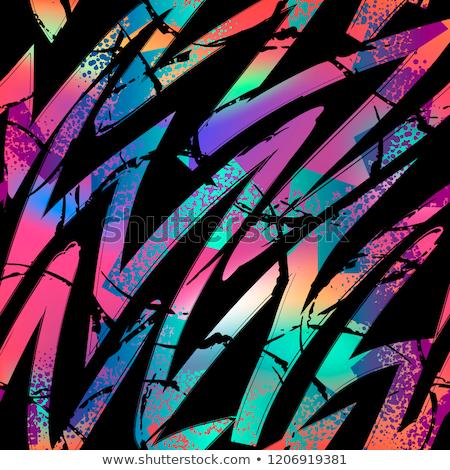 vecteur · géométrique · résumé · chaotique - photo stock © softulka