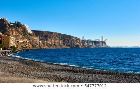 Almeria skyline and rocky coastline. Southern Spain. Stock photo © amok