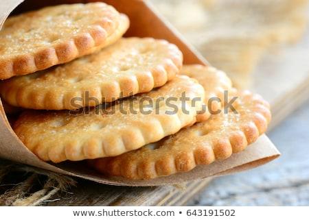 Lezzetli bisküvi küçük beyaz gıda kahvaltı Stok fotoğraf © Digifoodstock