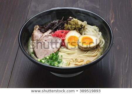 zuppa · ciotola · japanese · cucchiaio · rosso - foto d'archivio © vichie81