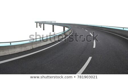 Aszfalt utak autópálya szett felirat utazás Stock fotó © m_pavlov