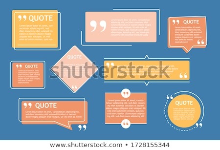 testimonial textbox with space for your text Stock photo © SArts