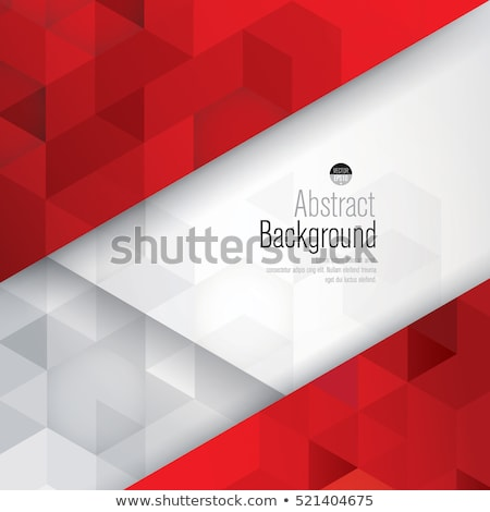 Abstract Rood 3D veelhoek Stockfoto © SArts