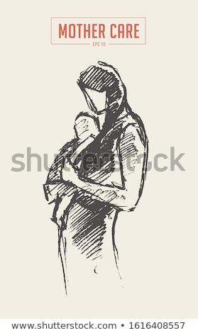 nő · vásárlás · sziluett · izolált · fehér · lány - stock fotó © maia3000