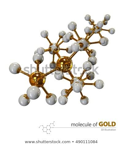 illusztráció · arany · izolált · fehér · 3d · illusztráció · technológia - stock fotó © tussik