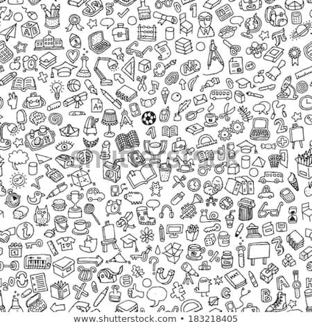 balle · point · stylo · isolé · illustration · bureau - photo stock © ylivdesign