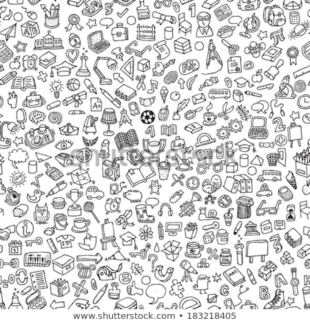 Zwarte pen icon cartoon stijl witte Stockfoto © ylivdesign