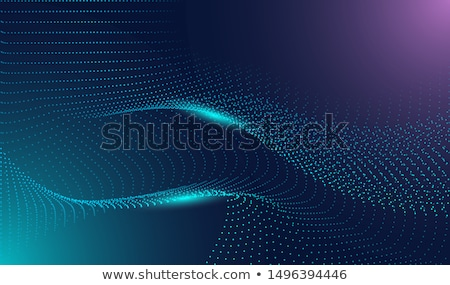 flowing particles technology digital cyber background Stock photo © SArts