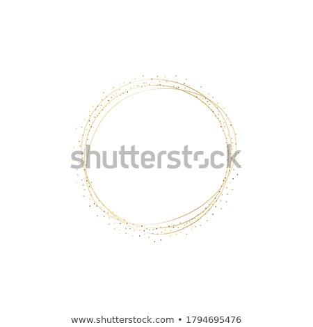golden glitter frame background vector Stock photo © SArts